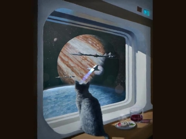 Ships Cat (painting to 3d)
