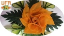 Artistic Of Carrot Flowers | Vegetable Carving Flower Roses Garnish | Party Hotel Food Decoration