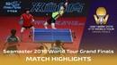 Wong Chun T Doo Hoi K vs Jang W Cha Hyo S 2018 ITTF World Tour Grand Finals Highlights Final
