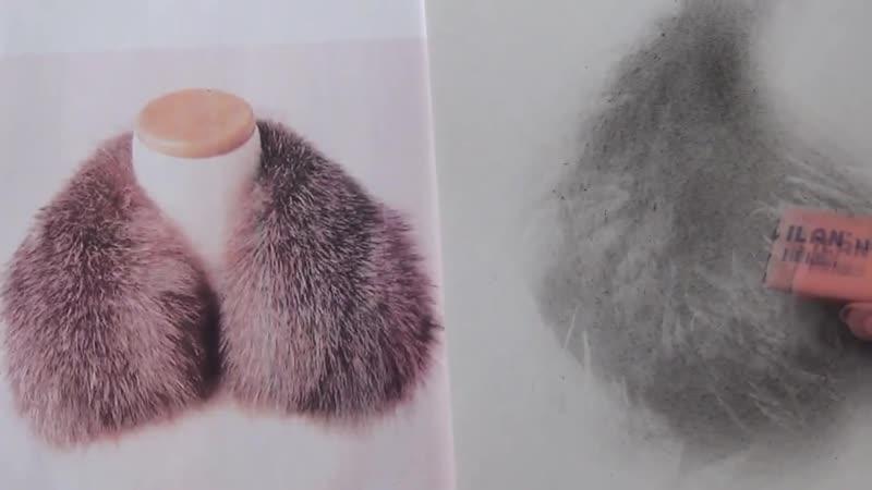 Как нарисовать мех за 3 7 минут Сухая кисть урок для начинающих и продвинутых Татьяна Артыкова