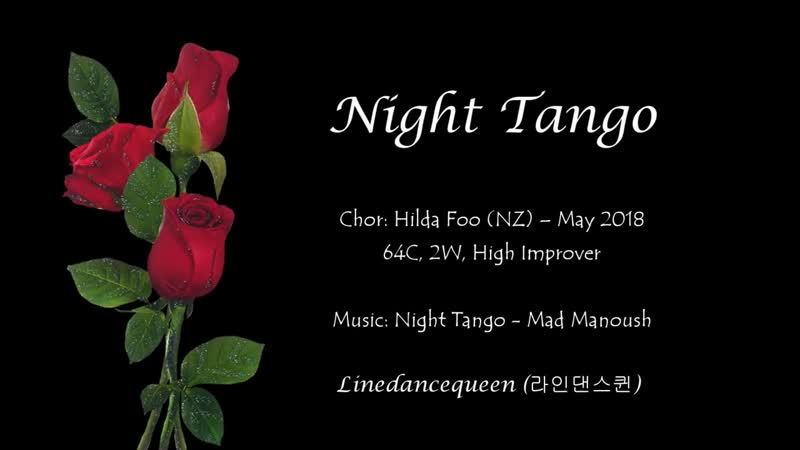Night Tango Line dance (High Improver) Hilda Foo Demo Count