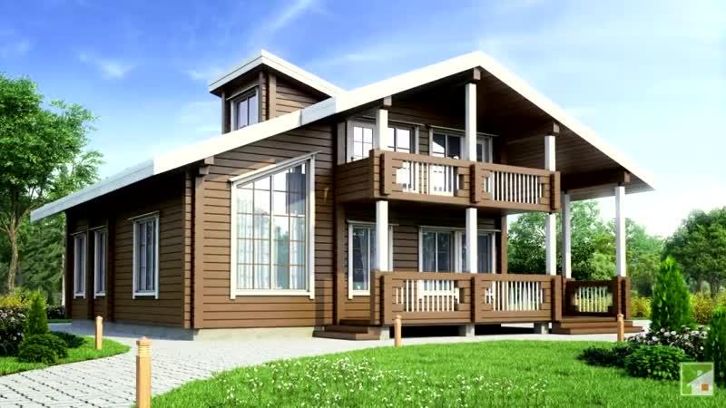 Проекты двухэтажного дома из бруса где их лучше искать