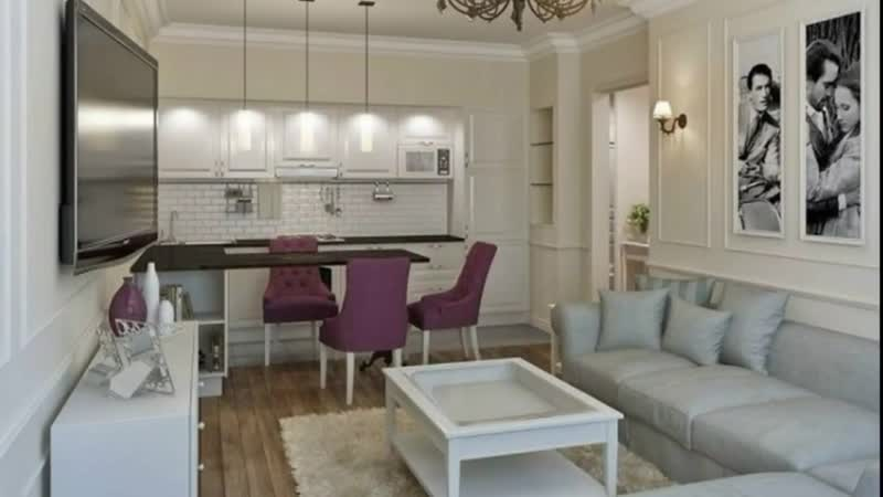 Дизайн кухни-гостиной 17 кв. м