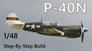 P-40N Warhawk Hasegawa 1/48 Step-by-Step Build Part 2