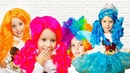 Kids Pretend Play Dress up for Halloween with Colored Wigs Hairstyles