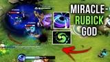 Miracle- EPIC Rubick M-GOD Refresher Blackhole Style - Solo Mid Core Gameplay Dota 2
