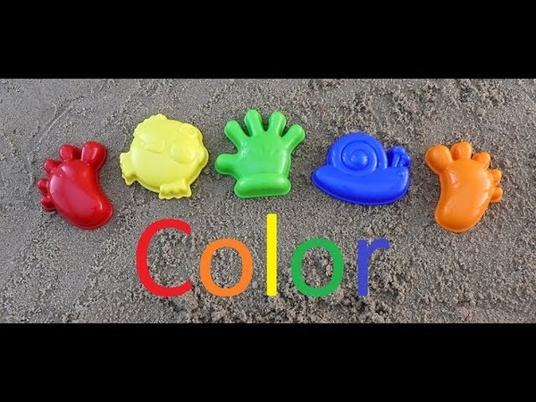 Learning colors with children in English Red Ornunge Yellow Green Blue