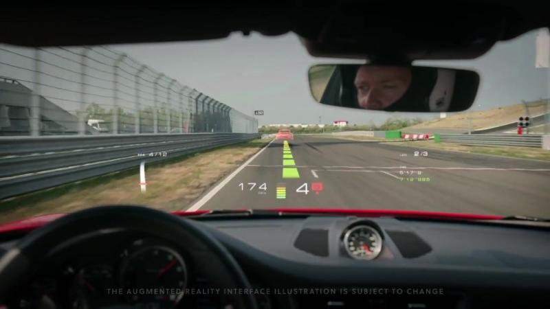 WayRay Augmented Reality Windshield Track Interface