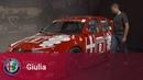Giancarlo Fisichella at Museo Storico Alfa Romeo