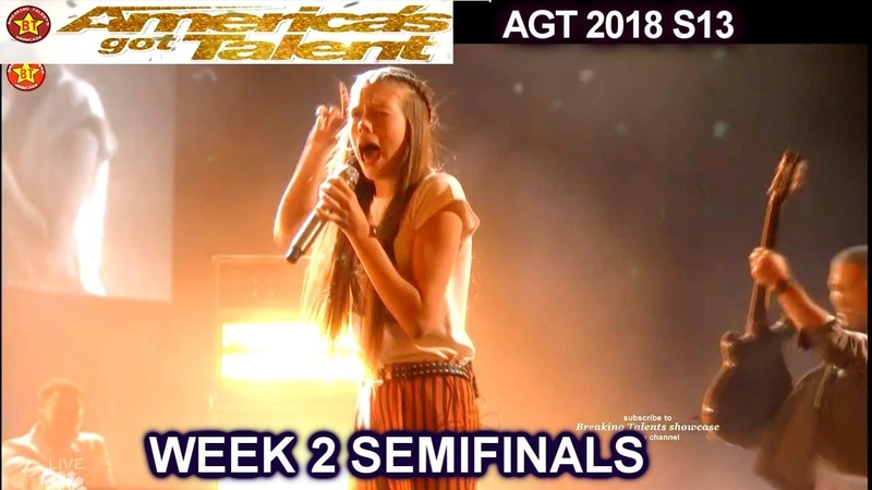 """Courtney Hadwin sings """"Born To Be Wild"""" SIMON LOVES IT Semi-Finals 2 America's Got Talent 2018 AGT"""