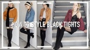 HOW TO STYLE BLACK STOCKINGS WINTER LOOKBOOK 2018 EMILY EMBERS
