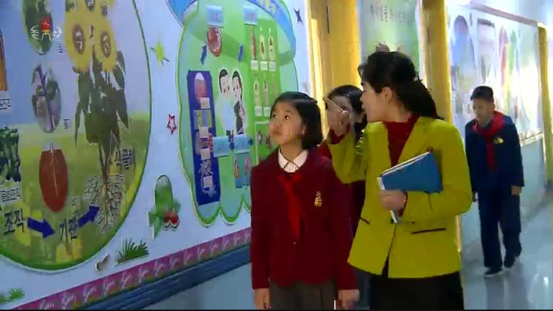 숭고한 후대관이 어린곳에서 은정구역 위성초급중학교