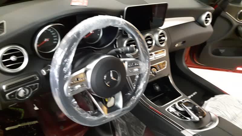 Защита от угона Mercedes-Benz С 180 - Пример разбора салона для скрытой установки часть 2