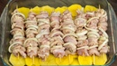 Шашлык это не обязательно мангал, угли и баранина! Куриный шашлык - эффектное блюдо! |