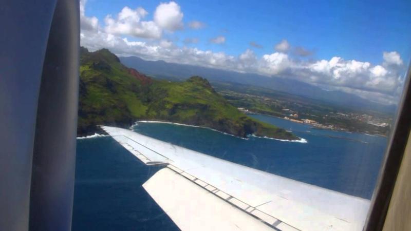 Hawaiian 717 full reverse thrust landing Kauai, EOS 7D