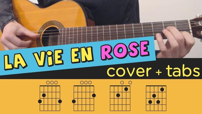 LA VIE EN ROSE - Guitar Cover Lesson Fingerstyle Tutorial Tab