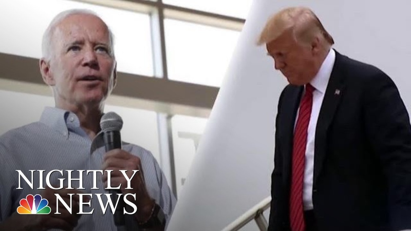 President Donald Trump And Joe Biden Trade Jabs At Dueling Events In Iowa | NBC Nightly News