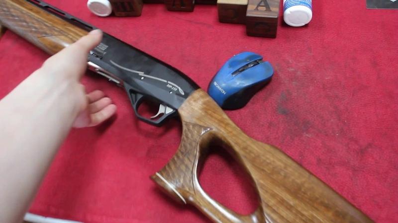 Удобный приклад на заказ и цевье на новенькое ружье МР 155 из Красного Дерева