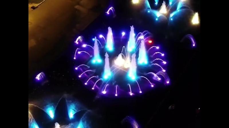 Первоуральский фонтан с высоты
