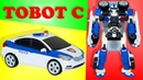 Transformer Tobot C The robot is transformed into a police car