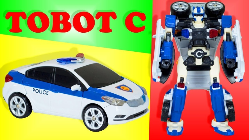 Transformer Tobot C. The robot is transformed into a police car.