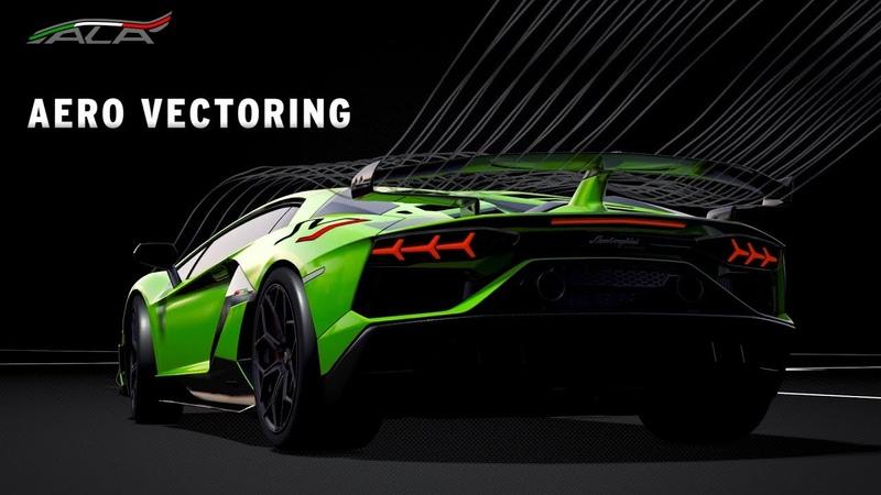 Работа активной аэродинамической системы ALA 2.0 на Lamborghini Aventador SVJ
