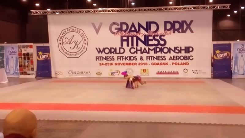 Чемпионат мира по Fit-Kid Гданьск Польша соло до 11 лет 4 место Дорошева Елизавета