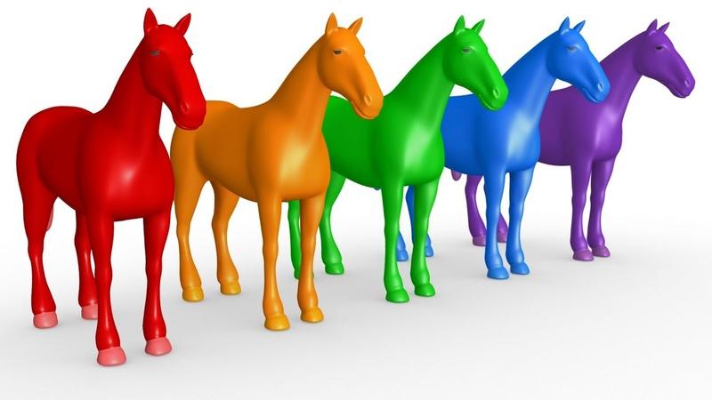 BIBI aprende números y colores con un establo de madera con caballos y la canción El Viejo McDonald