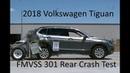 2018-2019 Volkswagen Tiguan (LWB) FMVSS 301 Rear Crash Test (50 Mph)