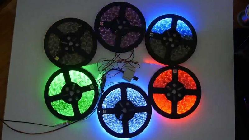Sound sensitive LED controller for single color LED strip Цветомузыка 6 каналов