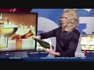 как быстро открыть бутылку шампанского.