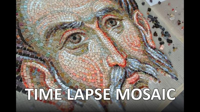 Time Lapse - Mosaic face of St. Apostle Matthew