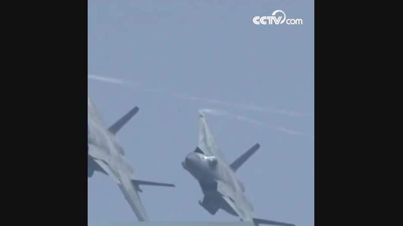 Воздушный показ истребителей J-20 на чжухайском авиасалоне