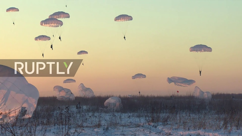 Russia Paratroopers descend over Kostroma Region in first exercise of 2019