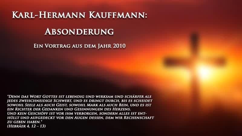 K.-H. Kauffmann Absonderung