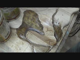 Как вырезать ручным фрезером ЧПУ НЕРВНО КУРИТ - необычный способ резьбы фрезером