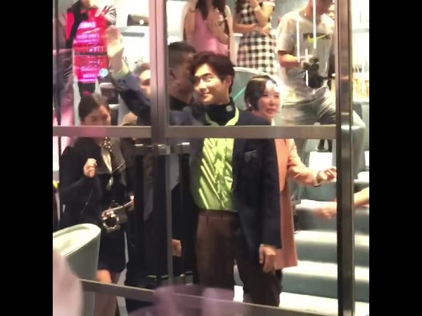 EXO SUHO 金俊勉 miu miu events at11/2/2019 in Hong Kong part 3