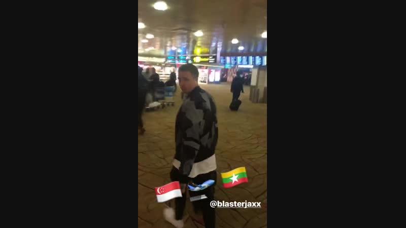 Olly James Thom (Blasterjaxx) on their way to Myanmar