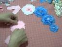 Flores hechas con cuadraditos de tela...Tutorial Parte 2