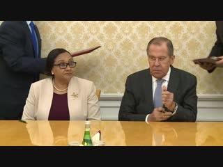 Вступительное слово С.В.Лаврова в ходе встречи с исполнительным секретарем Сообщества развития Юга Африки (САДК) С.Такс