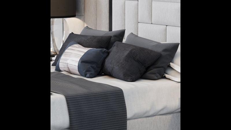 №2 Текстурирование и настройка материалов Sloane Royale Bed