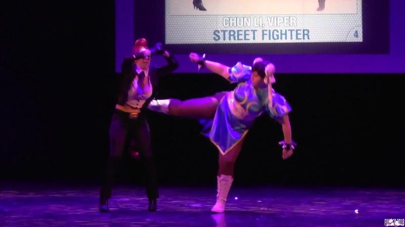 Chun Li, Viper, Street fighter (Групповое дефиле (Азия) - Fuyu no Сosplay 2018
