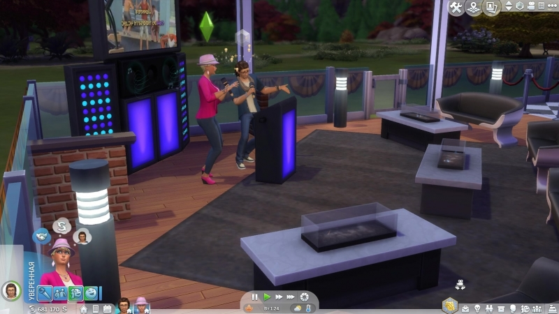 Sims 4. Караоке-бар. Дуэт