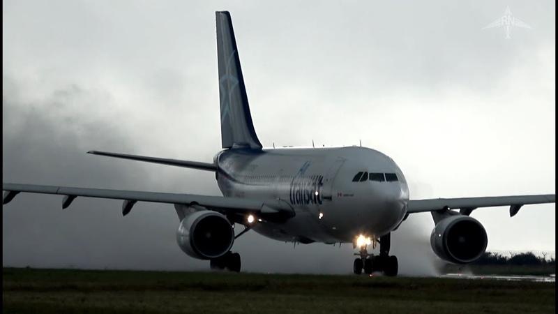 Bad Weather Action! Prague Airport Plane Spotting
