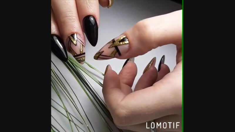 наращивание ногтей, дизайн геометрия