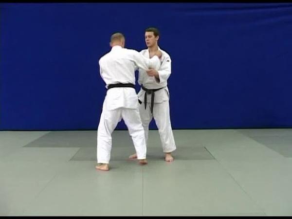 Nage waza – ushiro-goshi (judo, 1 kyu).