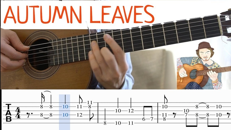 Autumn Leaves Fingerstyle Guitar with TAB