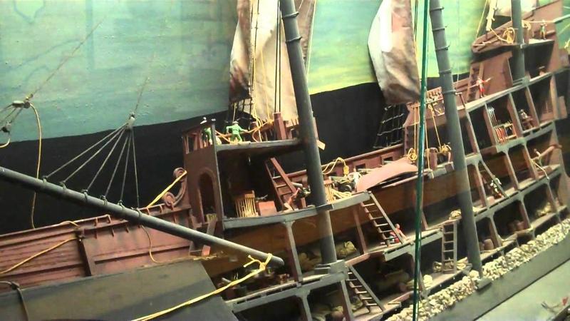 Life on a Spanish Galleon FL 16th c. Ship Model Detail