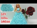 How to Make a Cinderella DIY Doll Dress from Crepe Paper - Doll Dress Fun