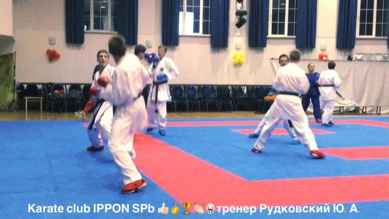 тренер Рудковский Ю.А. Карате клуб IPPON SPб Тренировка Старшая группа.